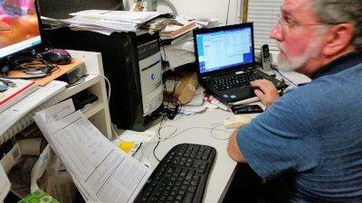 Ralph Modica at work 2014