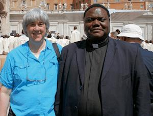 Terry Modica & Fr. Joseph Kimu