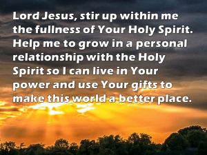 a prayer to be filled with the Holy Spirit