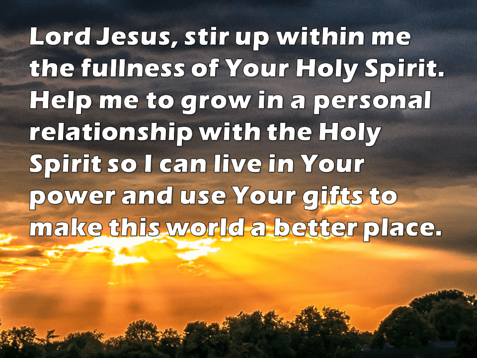 Holy Spirit prayer