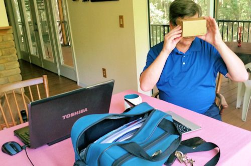 GNM's Bob Metivier tests Google Cardboard