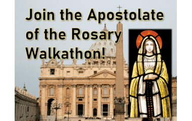 join rosary walkathon