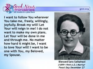 Blessed Sara Salkahazi