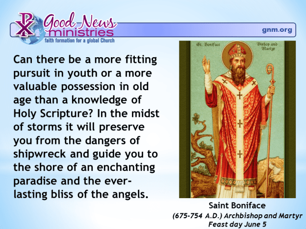 Saint Boniface on the importance of Bible Study