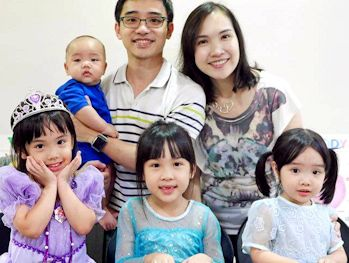 Gladys & family from Singapore