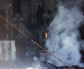 church burned