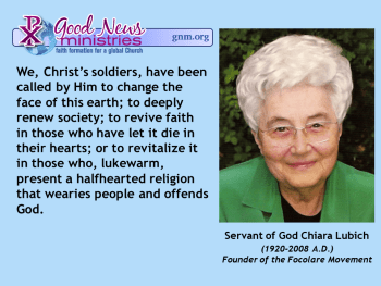 Servant of God Chiara Lubich