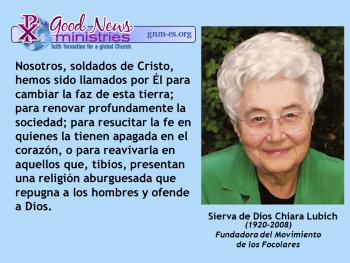 Sierva de Dios Chiara Lubich