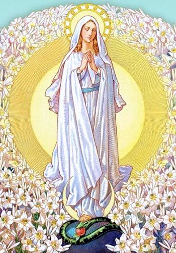 Our Lady of the Lilies as our Patron Saint