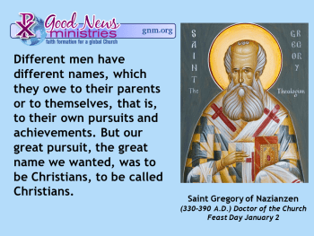 Saint Gregory of Nazianzen