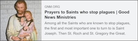 Saints who stop plagues