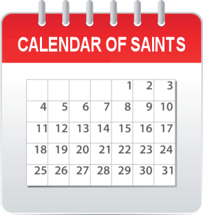 calendar of saints