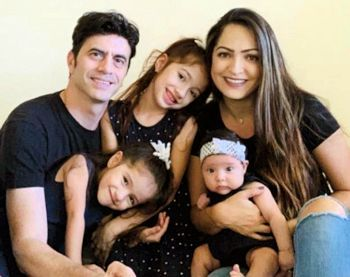 Lily, Felipe and their children in 2021