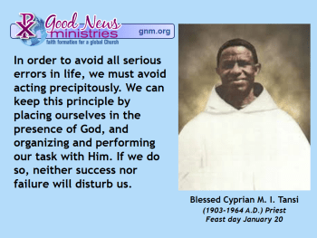 Blessed Cyprian M. I. Tansi