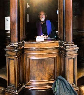 Fr Calleja in Vatican Confessional