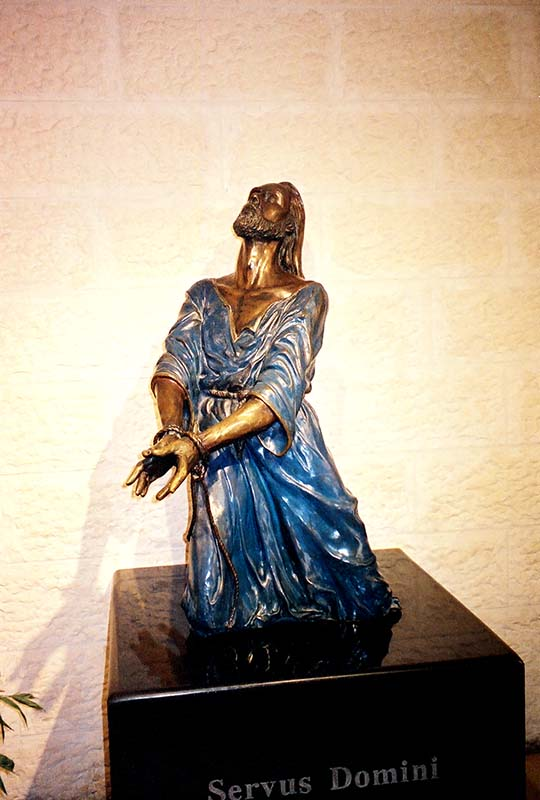 Statue of Jesus in Prison