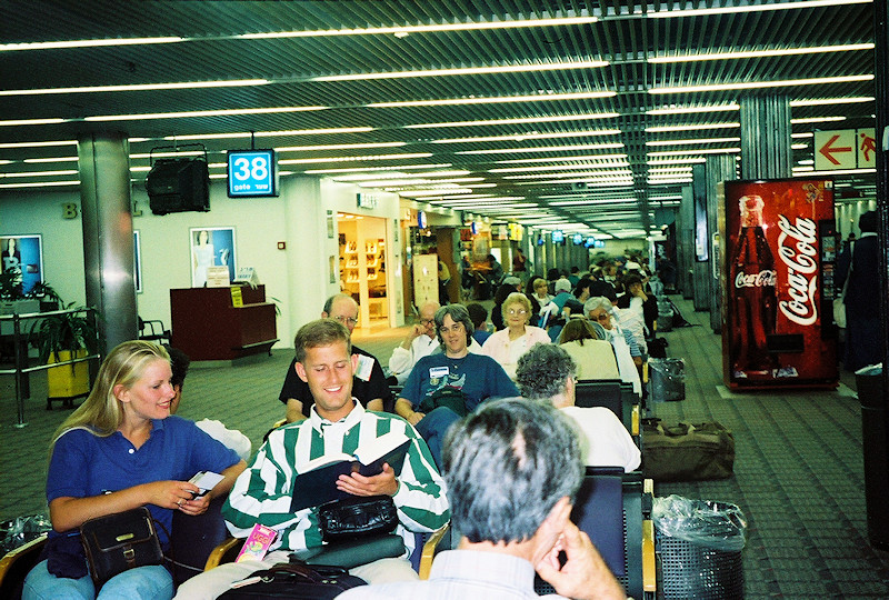 Terminal waiting area at Ben Gurion Airport