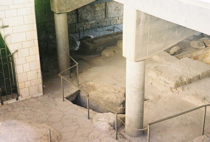Excavated areas under Church of the Annunciation
