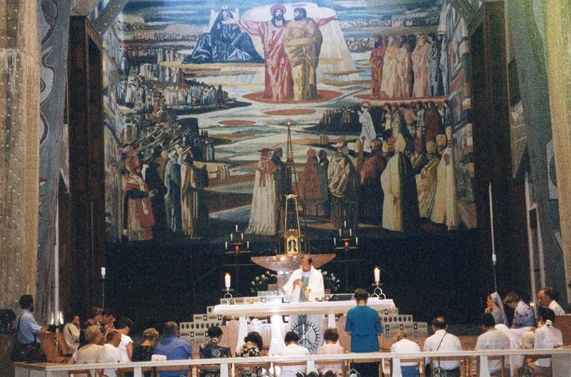 Mural at Church of the Annunciation