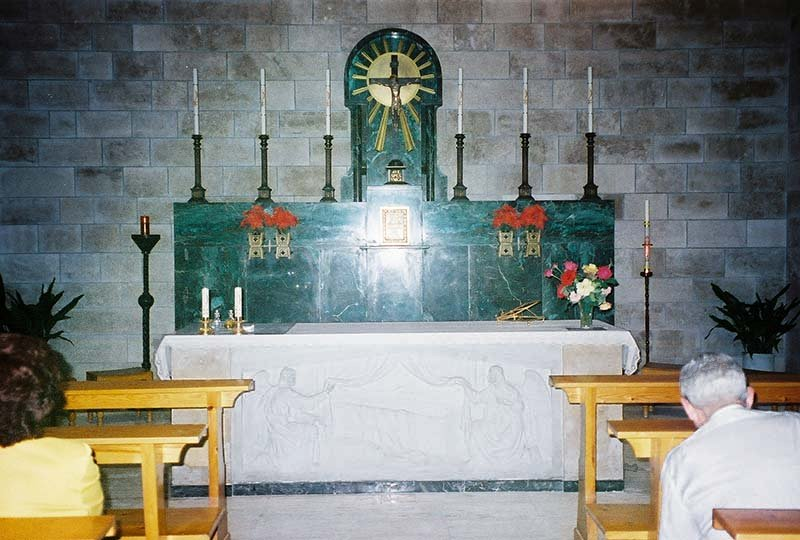 altar inside the Church of Bethany
