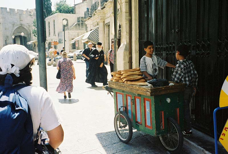 Boy bread merchants by Jaffa Gate