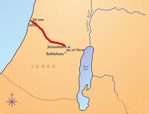 Map to Tel Aviv