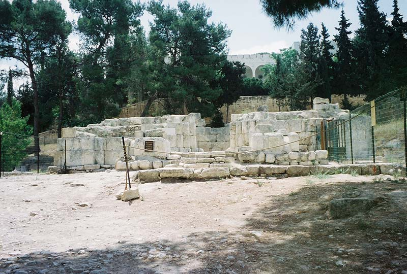 ruins of the 4th-century Byzantine church