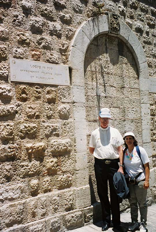 Door at Antonia Fortress, leading into the room where Pilate tried Jesus