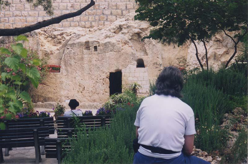 Exterior garden in front of the Garden Tomb