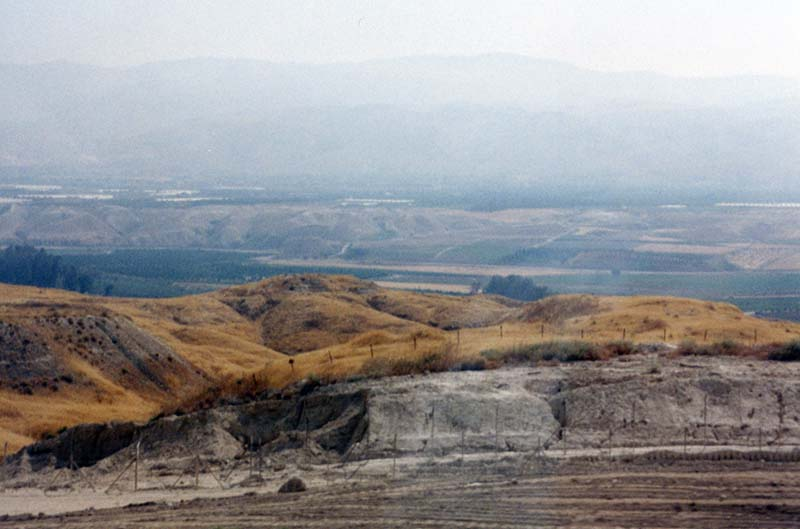 Photograph of view of Jordan Valley- separating Jordan from Israel