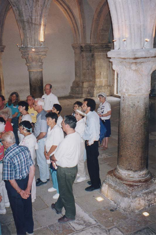 Tour Group in Upper Room