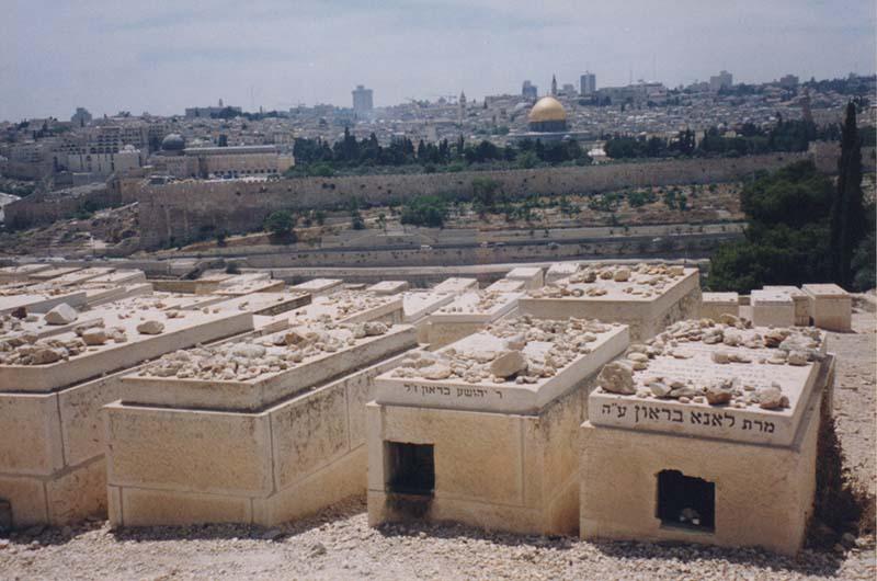 El cementerio judío estaba en su camino
