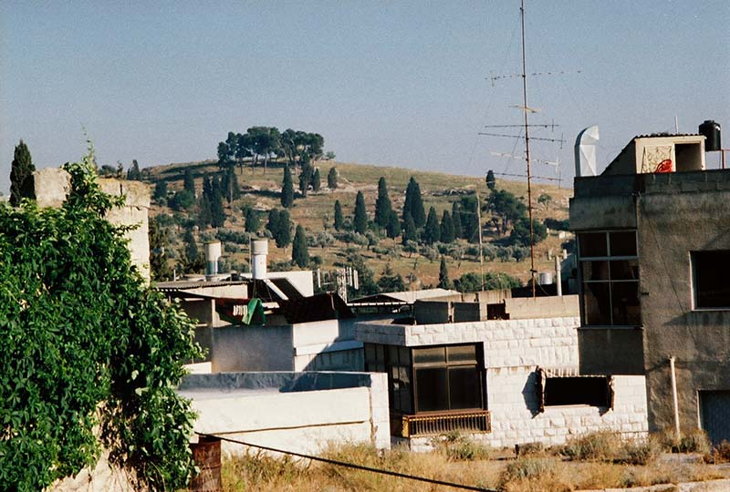 hillside view of Jesus' boyhood home