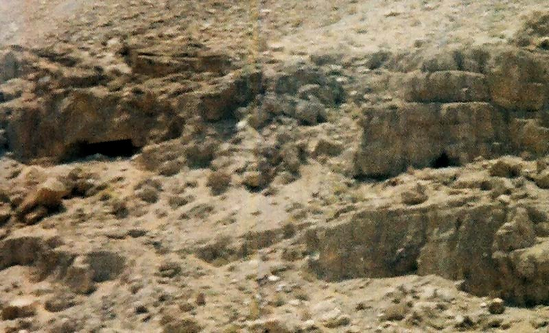 Close up photo of caves in Qumran