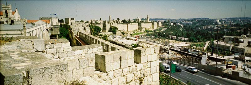 High atop the rampart that surrounds the old city