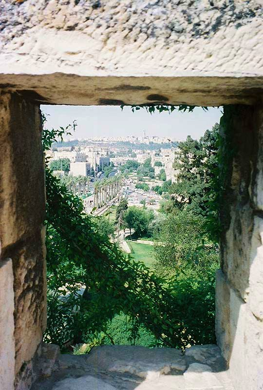 View of Jerusalem from rampart