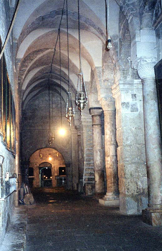 Interior, Church of the Holy Sepulchre in Jerusalem