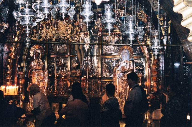 Greek Orthodox altar at The Church Of the Holy Sepulchre