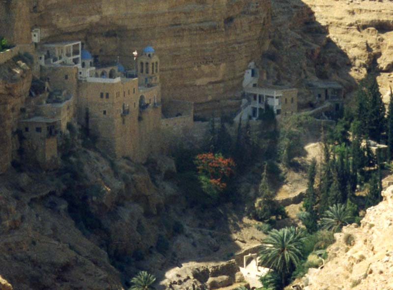 Exterior view from above monastery in the Valley of the Shadow of Death
