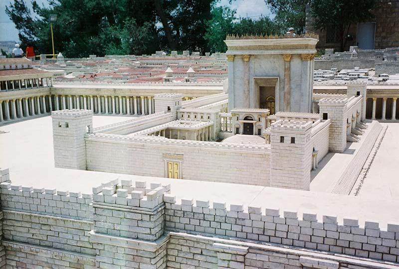 Model of temple in Jerusalem
