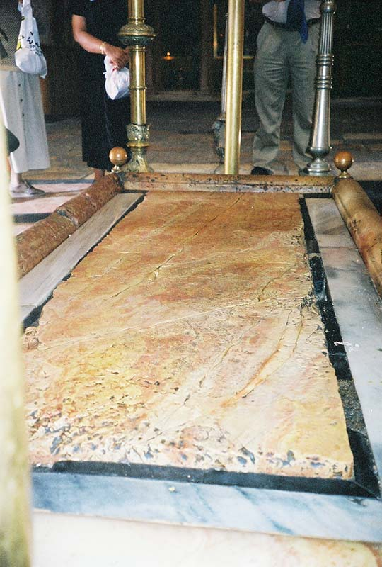 Church of the Holy Sepulchre stone slab