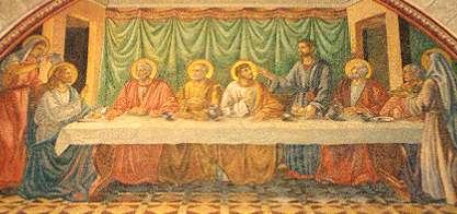 Misterios Luminosos para la Conversión del Mundo. Quinto Misterio. La Institución de la Eucaristía