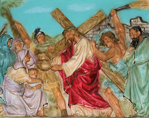 Jesús consuela a las mujeres de Jerusalén que lloran